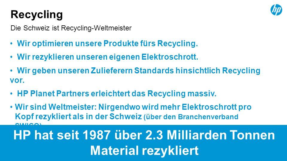 Die Schweiz ist Recycling-Weltmeister