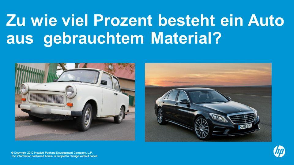 Zu wie viel Prozent besteht ein Auto aus gebrauchtem Material