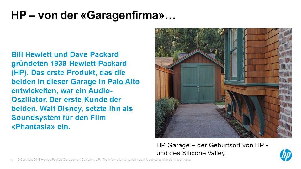 HP – von der «Garagenfirma»…