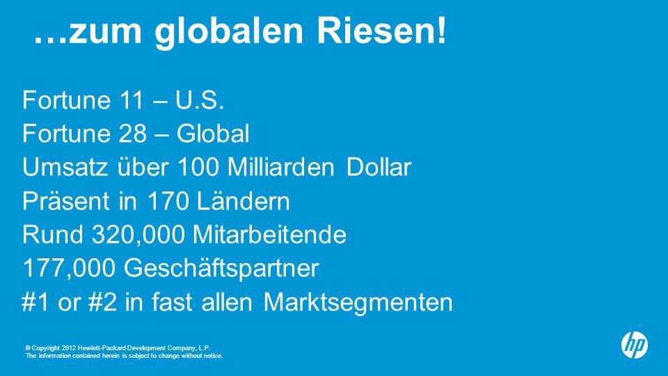 …zum globalen Riesen! Fortune 11 – U.S. Fortune 28 – Global