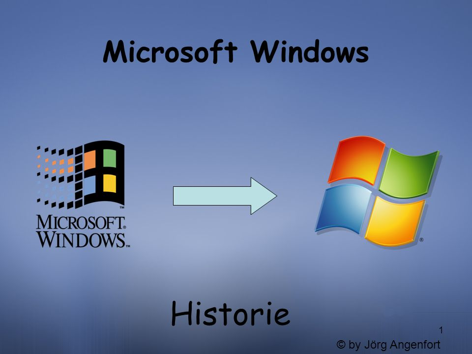 Microsoft Windows Historie © by Jörg Angenfort
