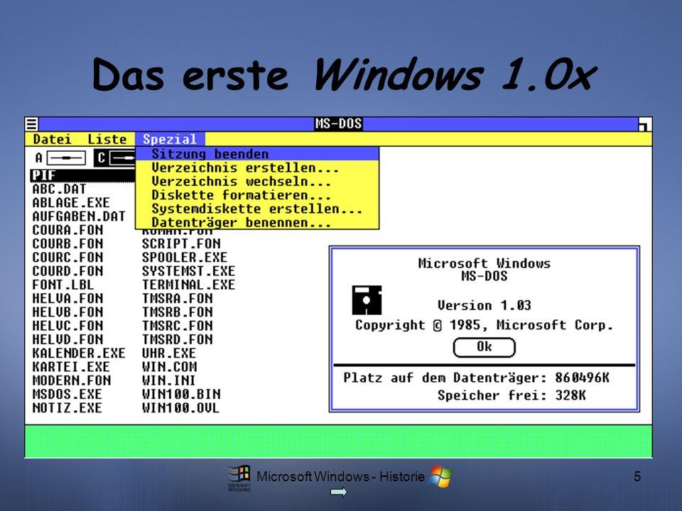 Microsoft Windows - Historie