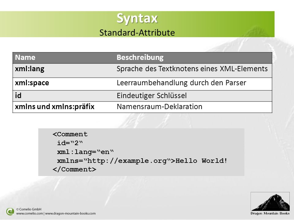 Syntax Standard-Attribute
