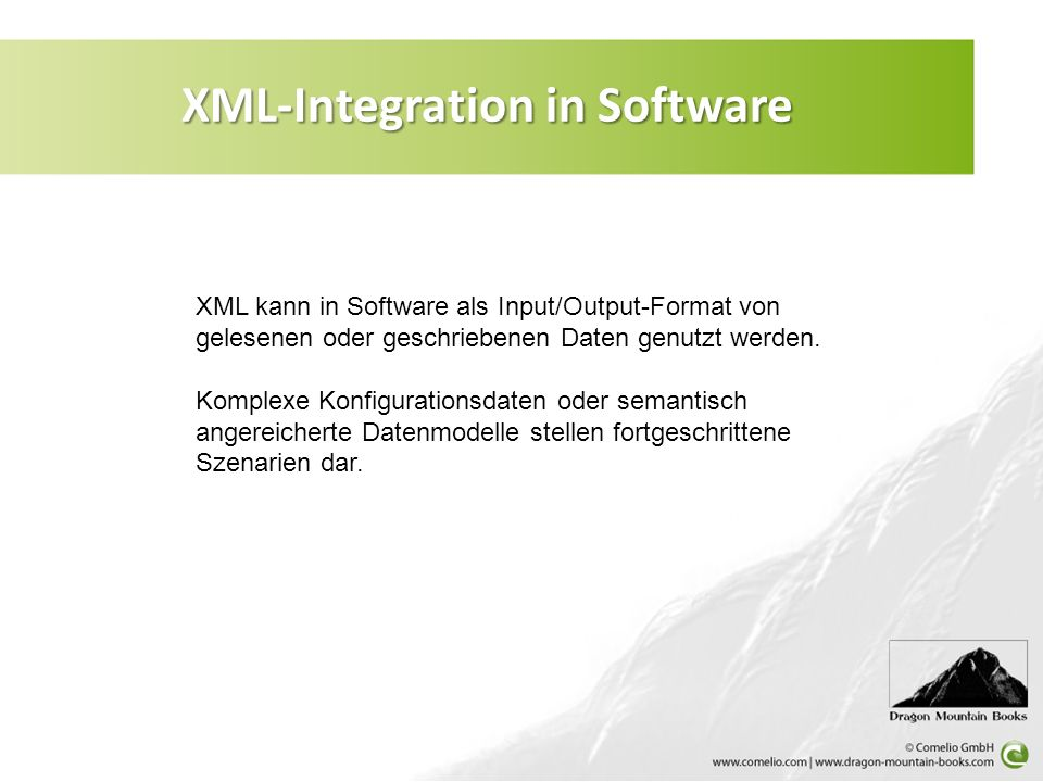 XML-Integration in Software
