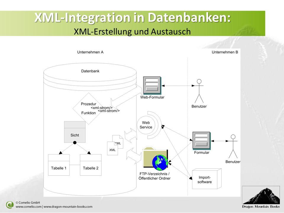 XML-Integration in Datenbanken: XML-Erstellung und Austausch