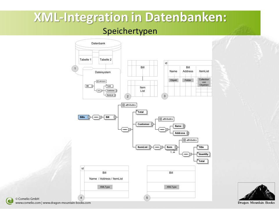 XML-Integration in Datenbanken: Speichertypen