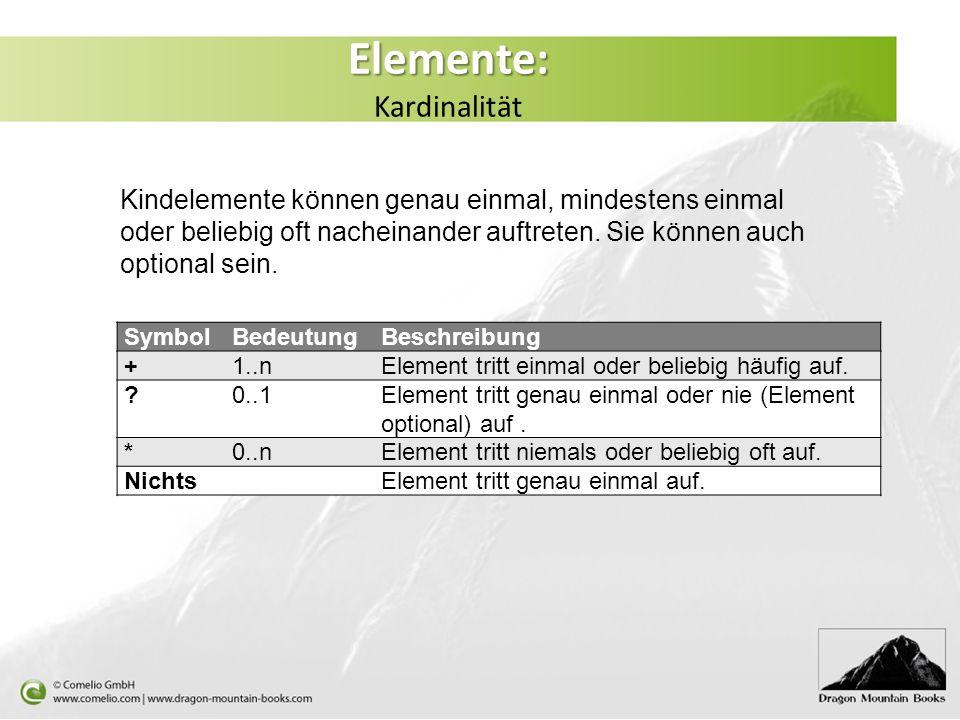 Elemente: Kardinalität