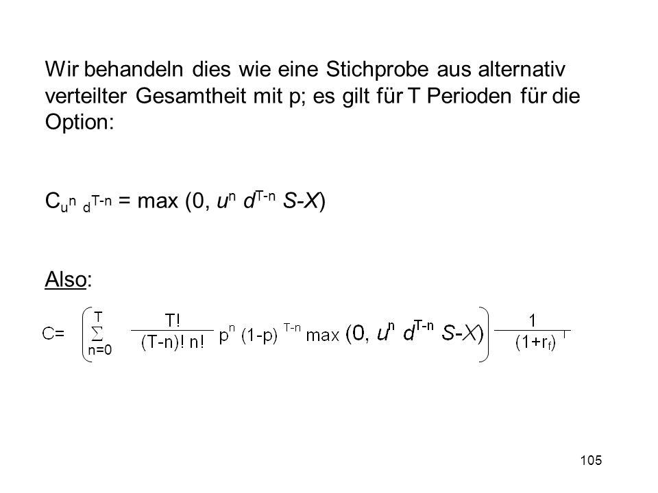 Cun dT-n = max (0, un dT-n S-X)