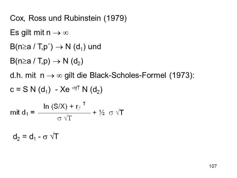 Cox, Ross und Rubinstein (1979)