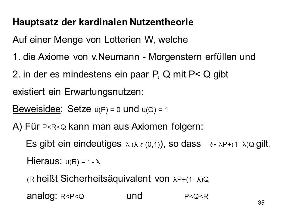 Hauptsatz der kardinalen Nutzentheorie