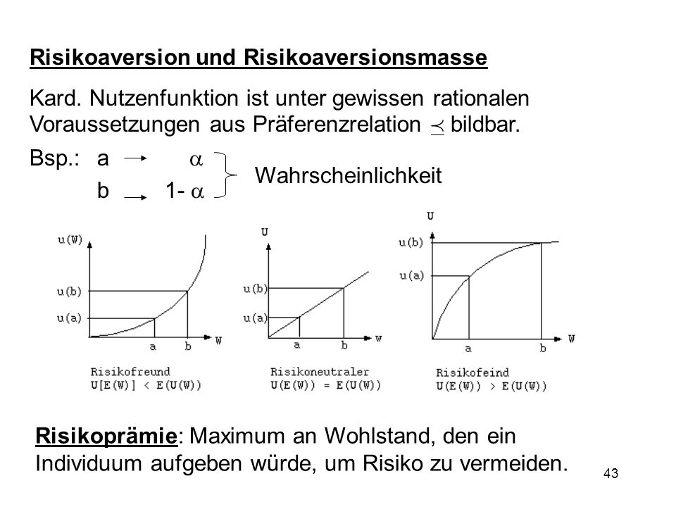 Risikoaversion und Risikoaversionsmasse