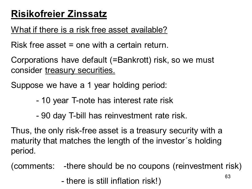 Risikofreier Zinssatz