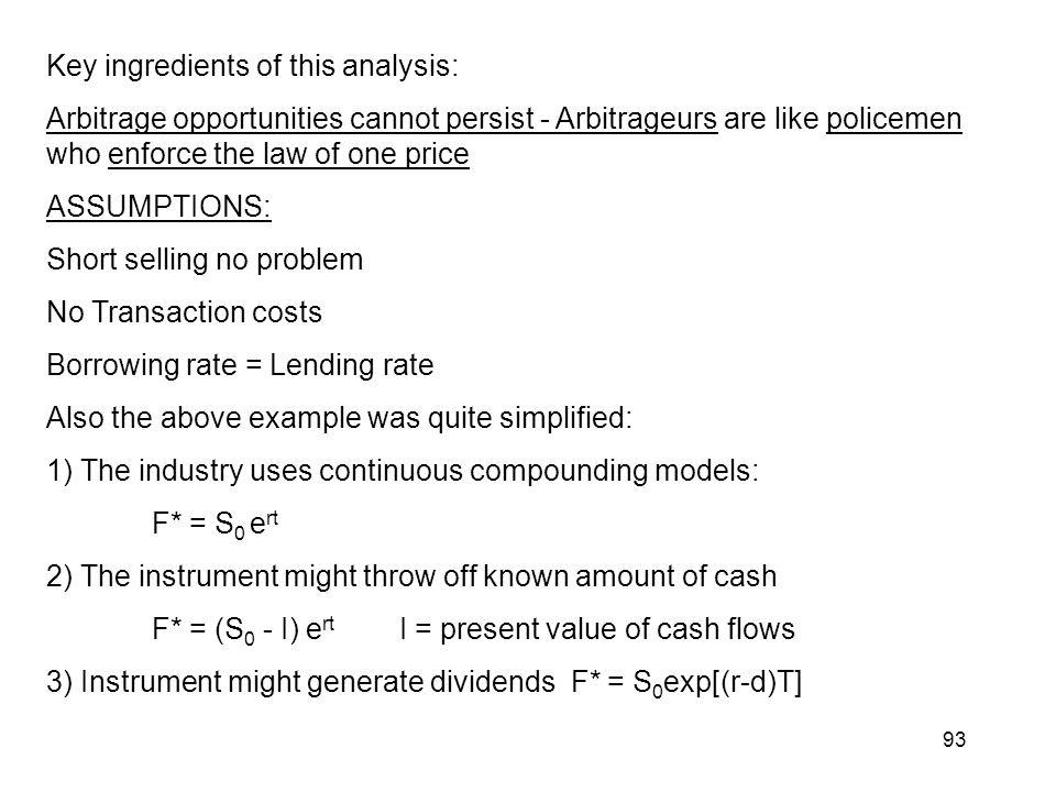 Key ingredients of this analysis: