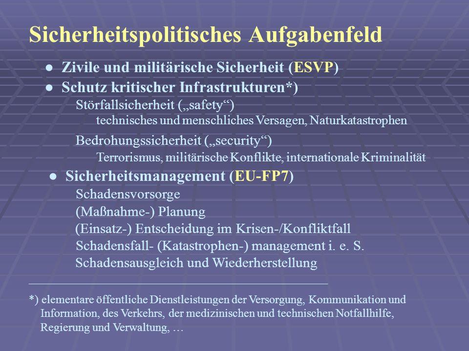 Sicherheitspolitisches Aufgabenfeld