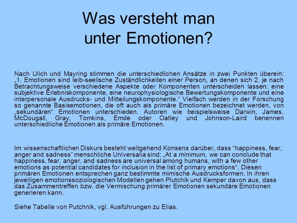 Was versteht man unter Emotionen
