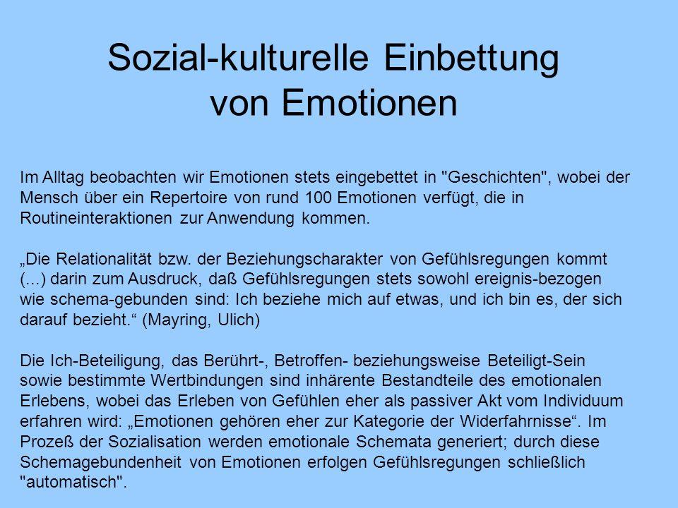Sozial-kulturelle Einbettung