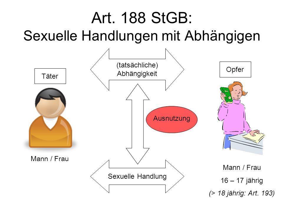 Art. 188 StGB: Sexuelle Handlungen mit Abhängigen