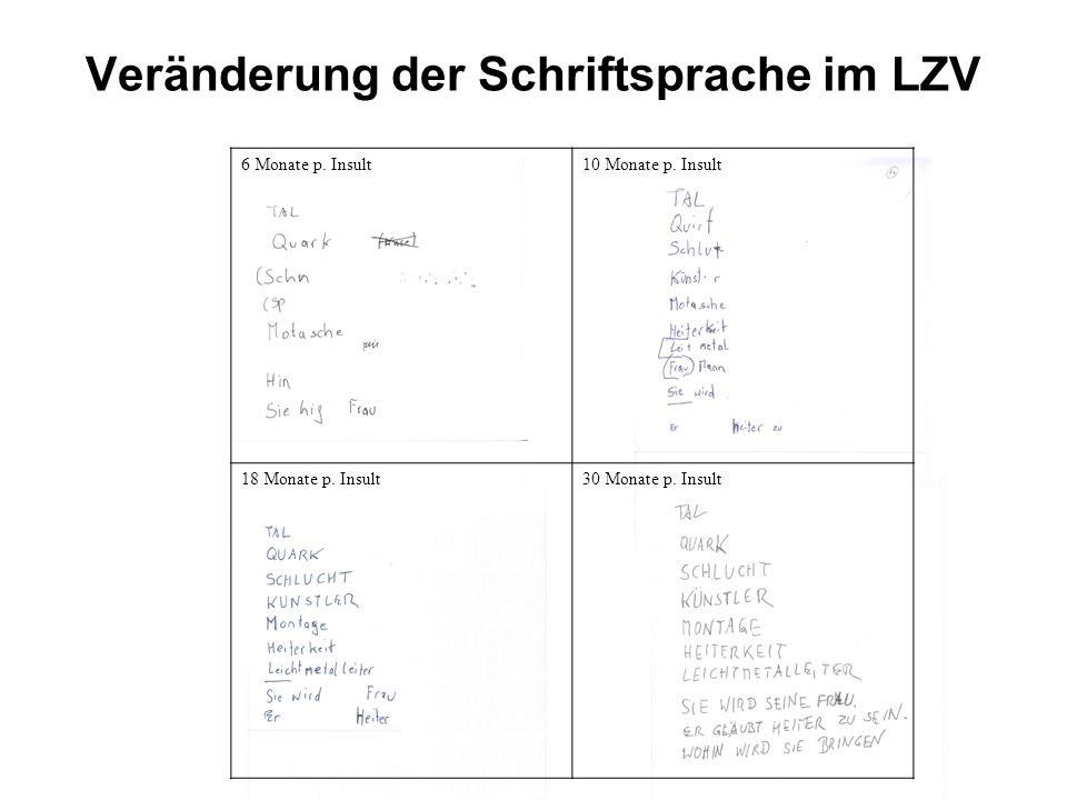 Veränderung der Schriftsprache im LZV