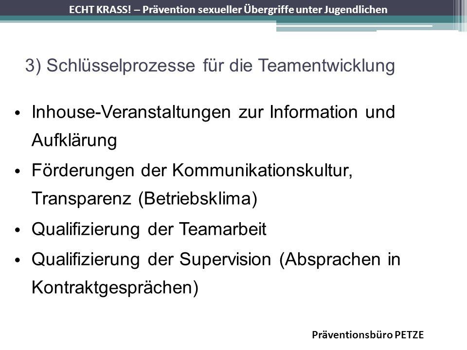 3) Schlüsselprozesse für die Teamentwicklung