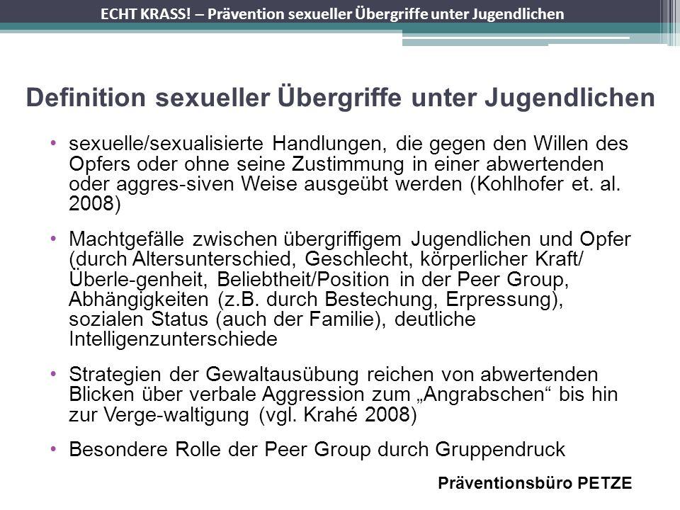 Definition sexueller Übergriffe unter Jugendlichen