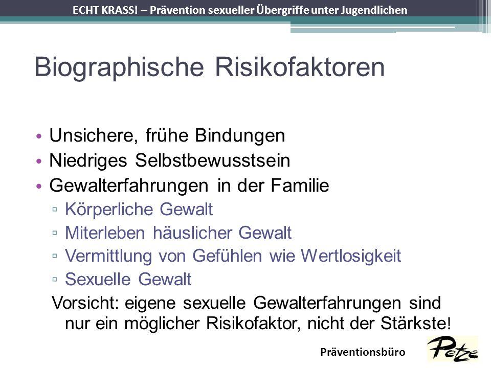 Biographische Risikofaktoren