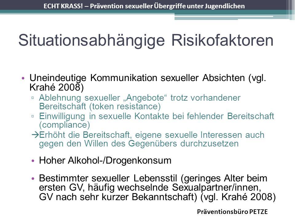 Situationsabhängige Risikofaktoren