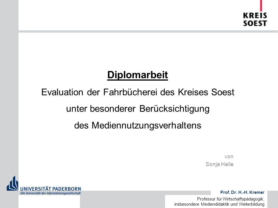 Diplomarbeit Evaluation der Fahrbücherei des Kreises Soest unter besonderer Berücksichtigung des Mediennutzungsverhaltens