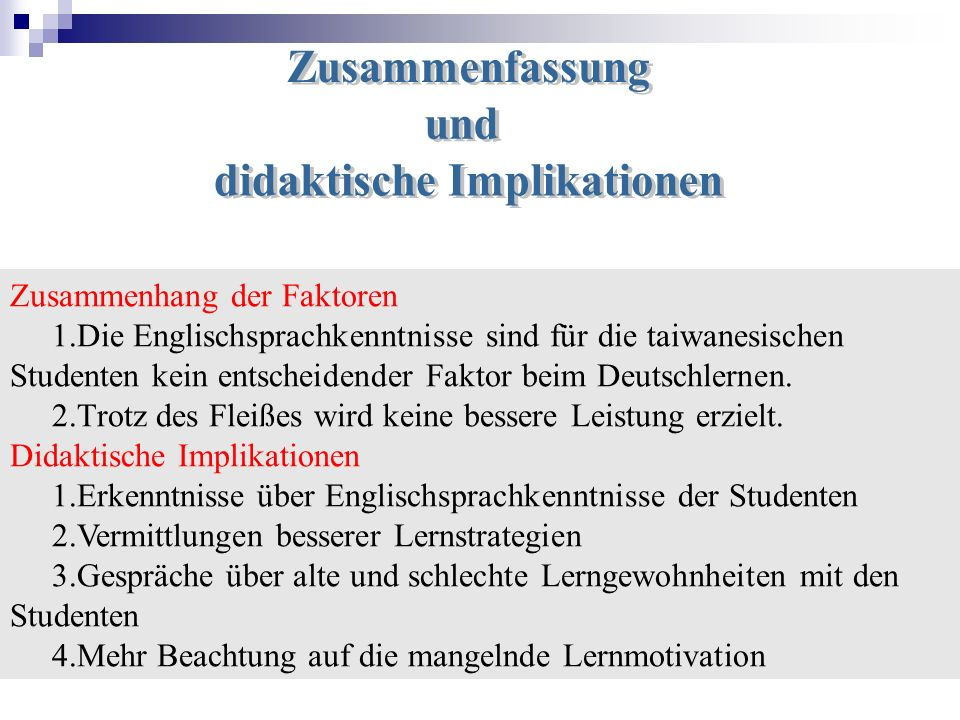 didaktische Implikationen