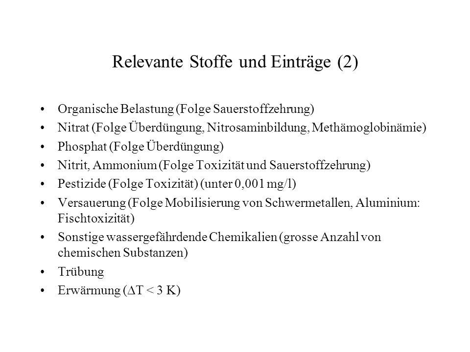 Relevante Stoffe und Einträge (2)
