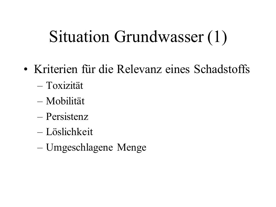 Situation Grundwasser (1)