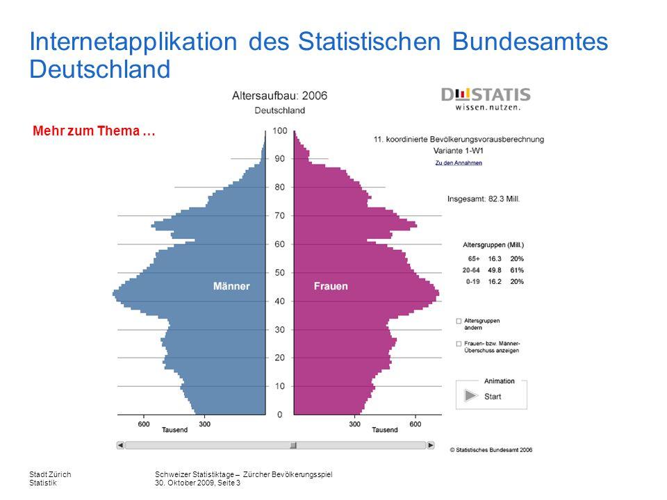 Internetapplikation des Statistischen Bundesamtes Deutschland