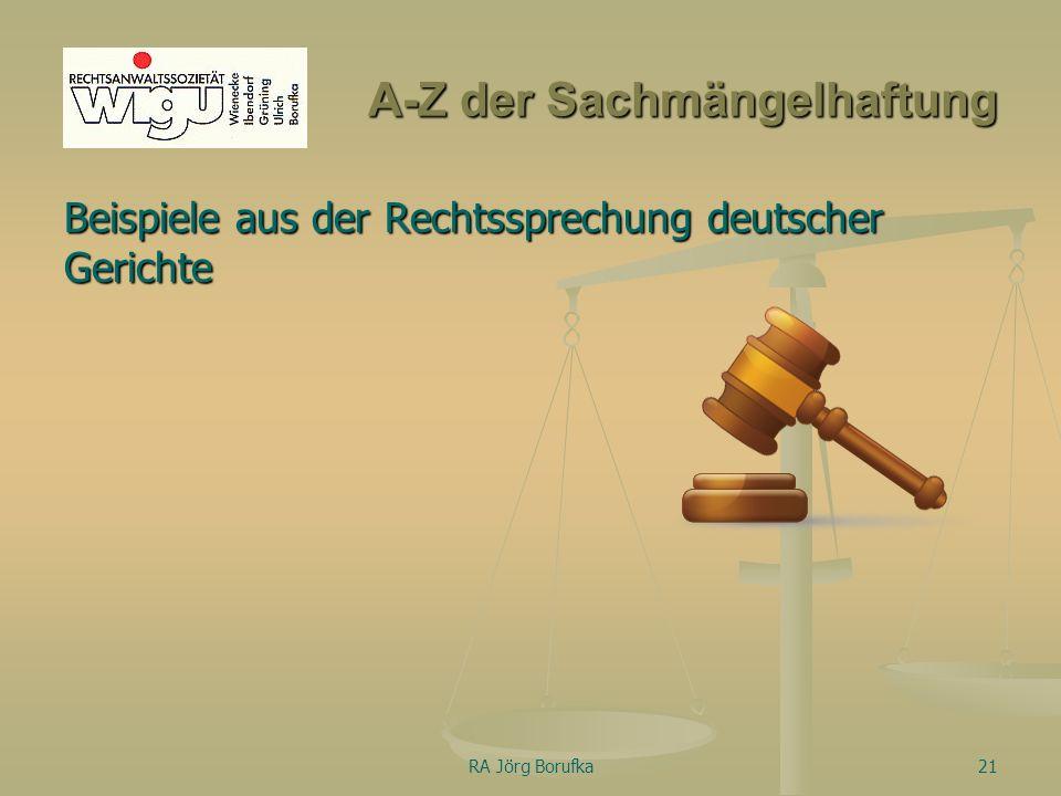 A-Z der Sachmängelhaftung