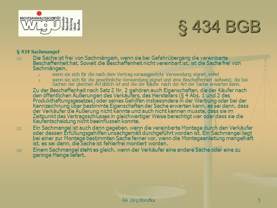 § 434 BGB § 434 Sachmangel.
