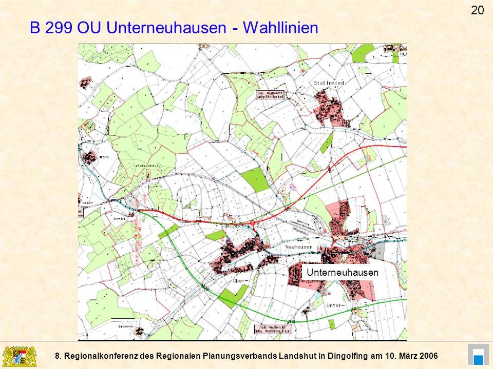 B 299 OU Unterneuhausen - Wahllinien