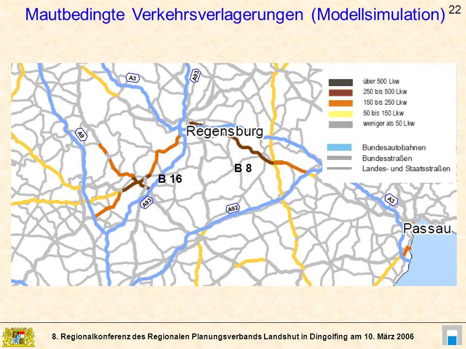 Mautbedingte Verkehrsverlagerungen (Modellsimulation)