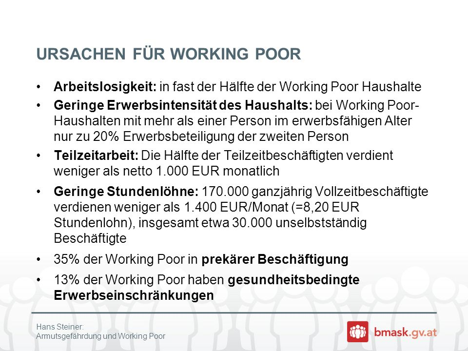 URSACHEN FÜR WORKING POOR