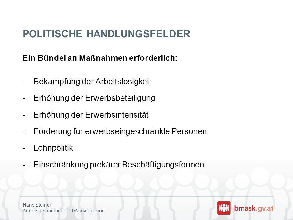 POLITISCHE HANDLUNGSFELDER