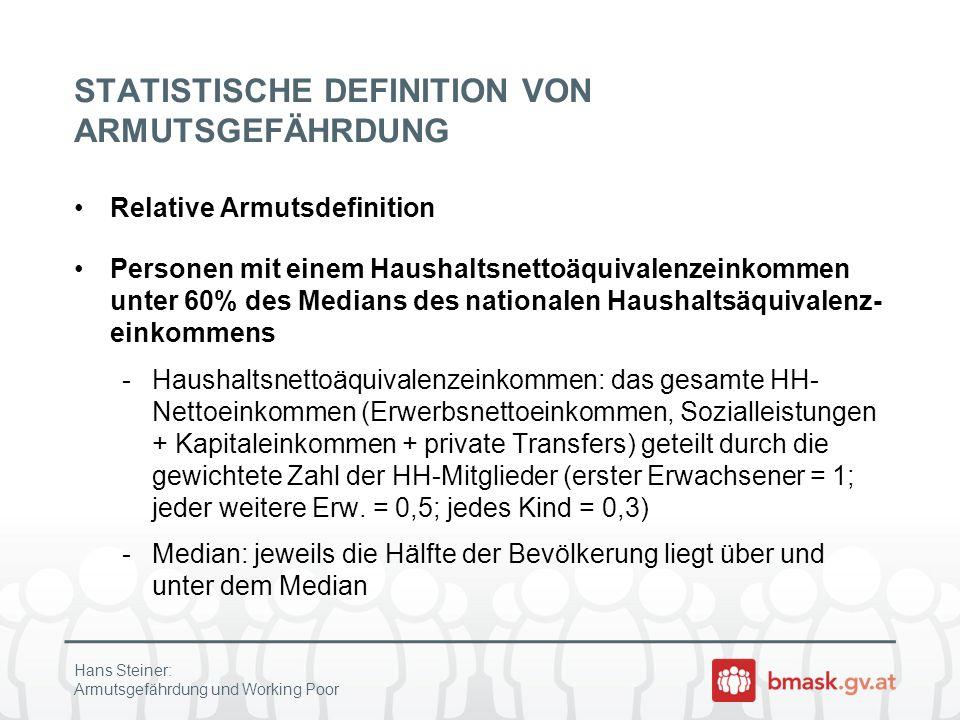 STATISTISCHE DEFINITION VON ARMUTSGEFÄHRDUNG