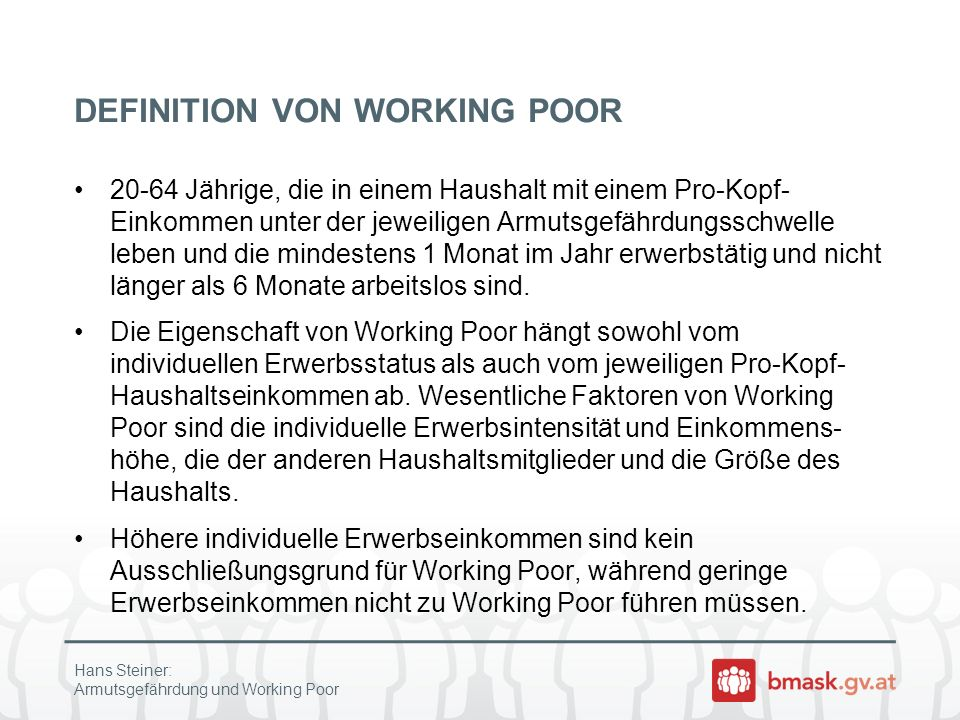 DEFINITION VON WORKING POOR