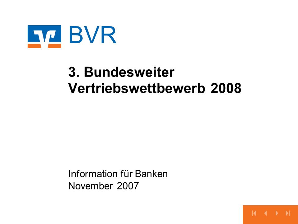 3. Bundesweiter Vertriebswettbewerb 2008