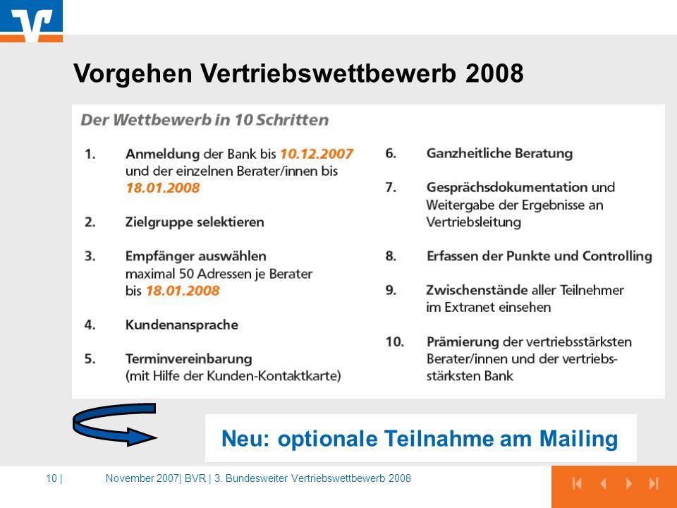 Neu: optionale Teilnahme am Mailing