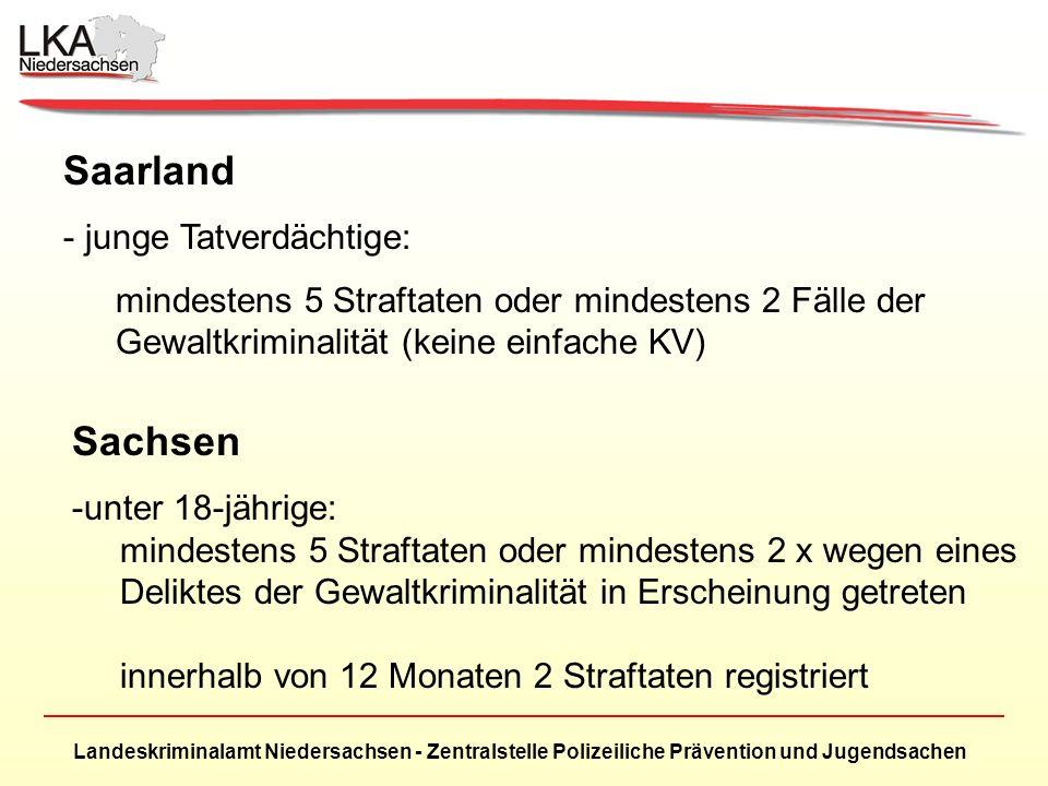 Saarland Sachsen junge Tatverdächtige: