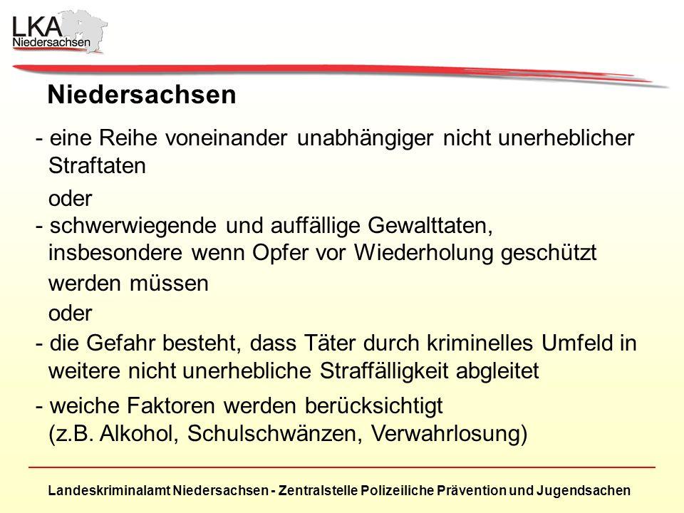 Niedersachsen eine Reihe voneinander unabhängiger nicht unerheblicher