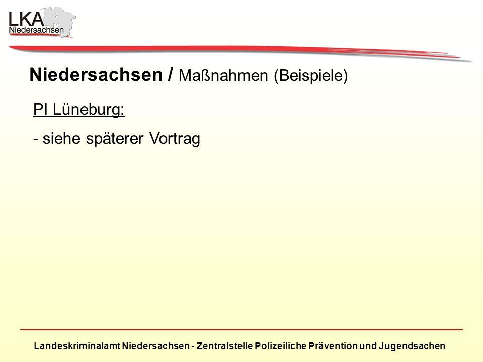 Niedersachsen / Maßnahmen (Beispiele)