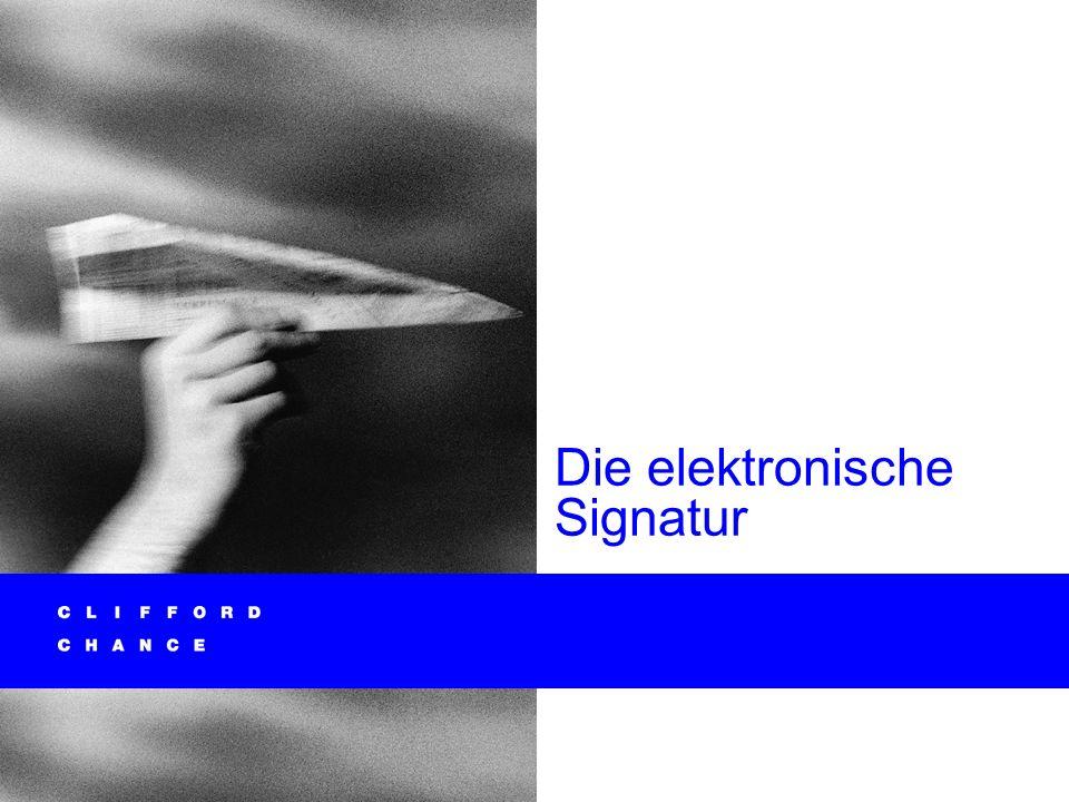Die elektronische Signatur