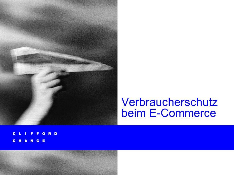 Verbraucherschutz beim E-Commerce