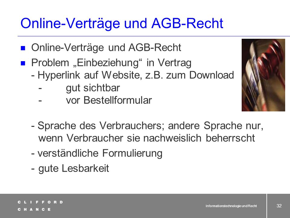 Online-Verträge und AGB-Recht