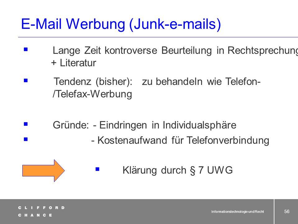 E-Mail Werbung (Junk-e-mails)