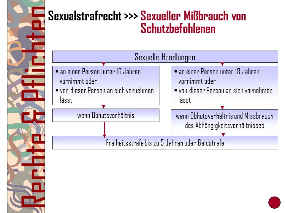 Sexualstrafrecht >>> Sexueller Mißbrauch von