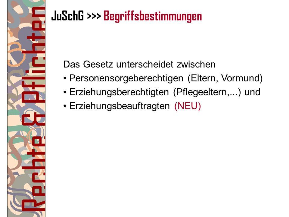 JuSchG >>> Begriffsbestimmungen